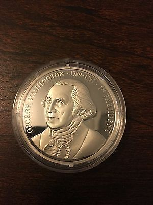 Presidents of the U.S. series .999 Silver George Washington 1st President Coin