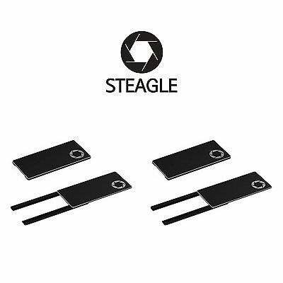 STEAGLE1.0 Two Pack Laptop Webcam Cover for Privacy Shield Black