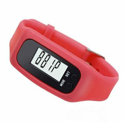 NWT Red And Black Pedometer Walking Steps & Calorie Counter Digital Watch