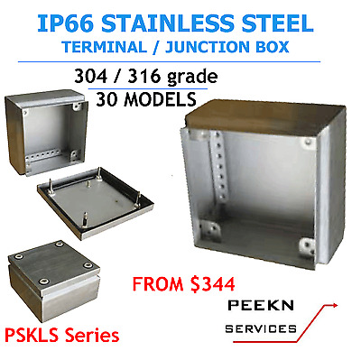 150W x 150H x 80D IP66, 304 Grade Stainless Steel Junction Box PSKLS151508-4