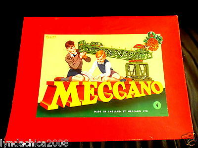 Vintage Meccano Construction Set 4 1950's ***VERY RARE & HARD TO FIND***
