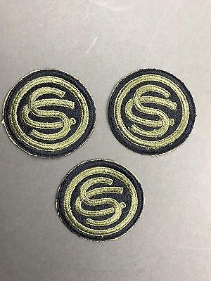WW2 ORIGINAL OFFICER CANDIDATE SCHOOL CUT EDGE SHOULDER PATCH Lot of 3