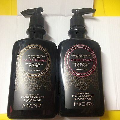Mor Lychee Flowers Hand and Body Lotion and Wash Set - RRP $60.00