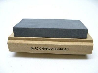 ARKANSAS Sharpeners Wood Mounted Knife Tool Hard WHETSTONE Sharpening Stone AC14