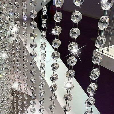 1XString Curtain Room Divider Crystal Beads Door Window Panel Wedding Home Decor