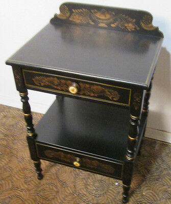 00001 Gorgeous HITCHCOCK Nightstand End Table Stand w 2 Drawers