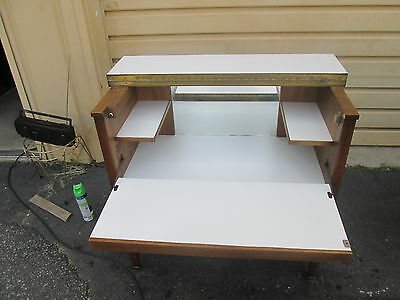 56031   Mid century Modern Bar Cart Server Cabinet Chest