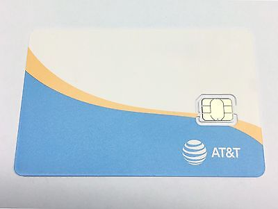 NEW AT&T Nano SIM Card GSM 4G LTE • Prepaid GoPhone or Contract ATT Replacement