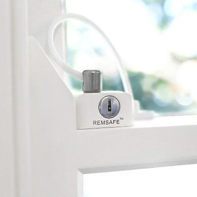 Remsafe Window Cable Lock (White) - child proof your home, secure your windows