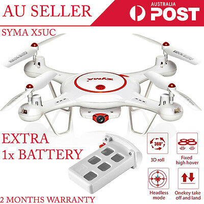 Syma X5UC With 720P HD Camera Altitude Hold Mode RC Quadcopter + 1 x Battery