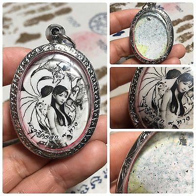 Jing Jok 9 Tails Fox Angel Chinese Amulet Luck Rich Charm Protect Attractive