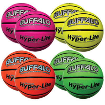 Buffalo Sports Hyper-Lite Cellular Basketball Set - Size 6/7 - Includes 8 Balls