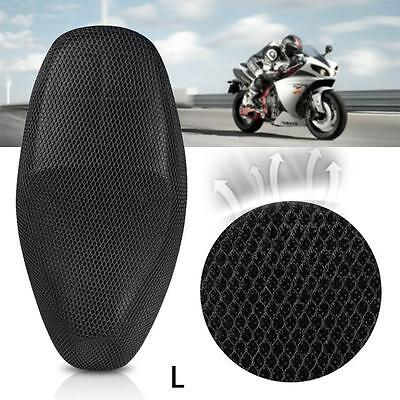Mildew Anti-Slip Motorcycle Heat Insulation Cushion Seat Saddle Cover Black L X@