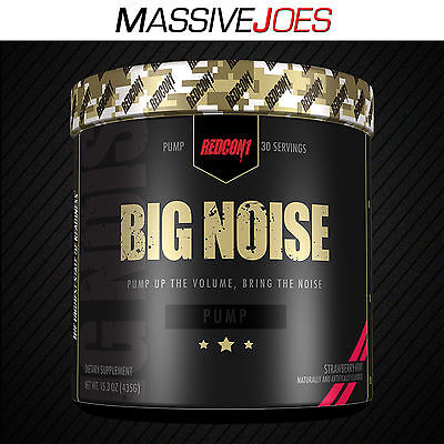 REDCON1 BIG NOISE 30 Serves Stimulant Free Pre Workout Nitric Oxide Pump