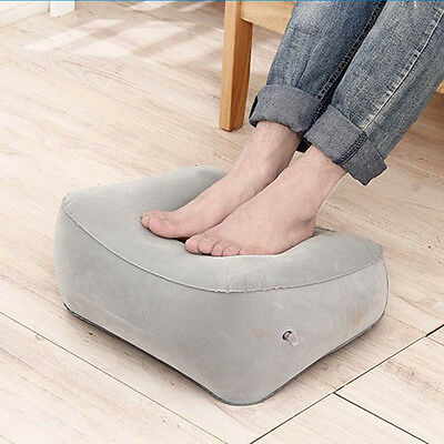 1pc Inflatable Foot Rest Pillow Cushion Travel Office Home Leg Up Footrest Relax