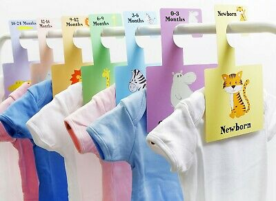 BABY WARDROBE DIVIDERS | Organise Baby's Clothes | DAYDREAMS Hangers Pack of 8