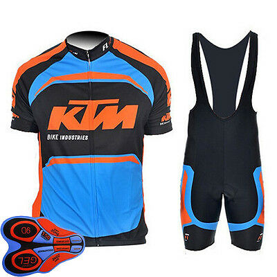 Cycling Jersey Clothing Men's Bicycle Suit Short Sleeve Jersey + (Bib) Short Set