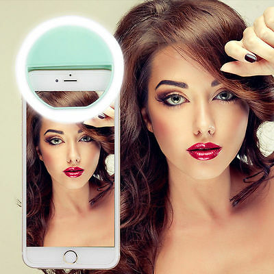 LED Ring Fill Light Camera Photography For IPhone Android Phone Selfie Portable