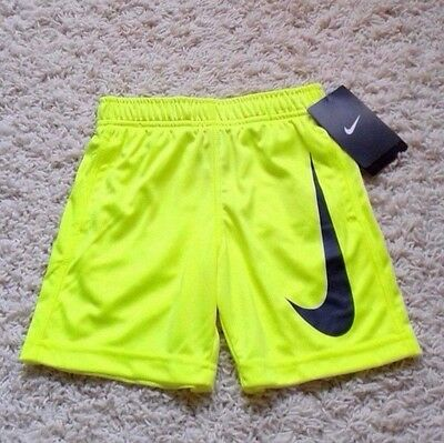 NWT MSRP $ 24.00 Nike 3T Baby kids toddler Dri-fit training shorts Volt