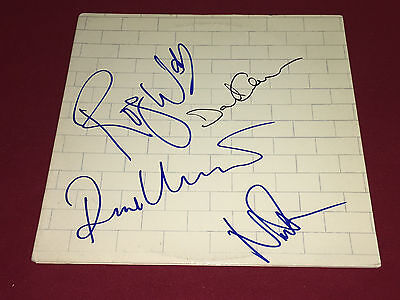Pink Floyd Signed Lp Autographed The Wall X4 David Gilmour Roger Waters Proof