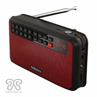 Rolton T60 Portable MP3 Stereo Player Audio Speakers FM Radio With LED Screen Su