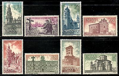 Spain 1971 Holy Year of Compostela (3rd Issue)  SG.1221/1228  Mint (MNH)