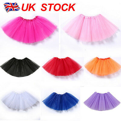 High Quality Baby Girls Kids Tutu Skirt Ballet Skirts Fancy Dress Party 3 Layers