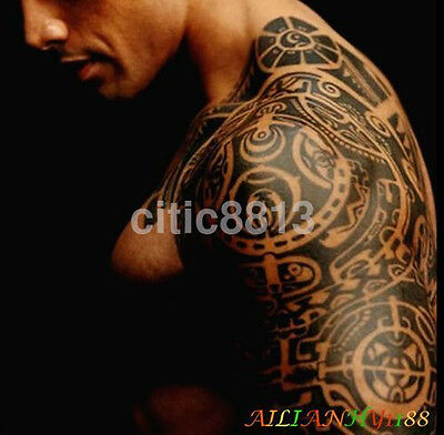 Large Temporary Body Art Arm Left Shoulder Tattoo Sticker Man Women Waterproof ^