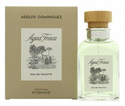 Adolfo Dominguez Agua Fresca Eau De Toilette 120Ml Spray - Men's For Him. New