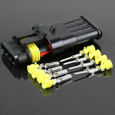 4-Pins-Draht-Stecker-versiegelt-Wasserdicht-hid-Connector-Modell-Modified-Car