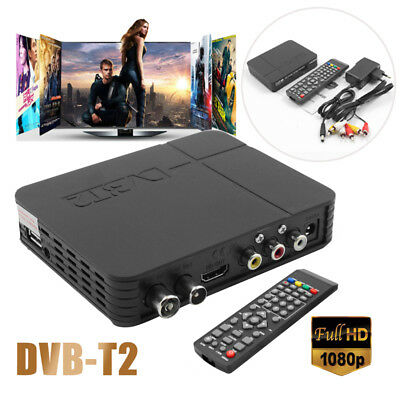 HD 1080P EPG PVR K2 DVB-T2 Digital Video Receiver Broadcasting TV Box +Remote