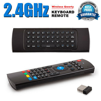 2.4G 10M Keyboard Control Wireless Fly Air Mouse Remote for Raspberry Kodi NEW