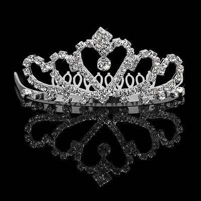 Wedding Bridal Crystal Rhinestone Headband Crown Comb Tiara Prom Pageant Jewelry