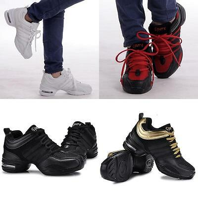 Hot Women Lace Up Jazz Hip Hop Dance Shoes Sneaker Dancewear Sport Shoes USDH