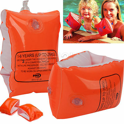 Childrens Kids Inflatable Safety Swimming Arm Bands Childs Baby Babies 2-6 Years