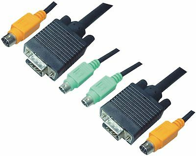 Aten KVM Cable VGA Male/2x PS/2 Plug/ 2x 3.5mm Male to VGA Male 3m