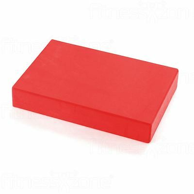 Yoga Block Pilates Foam Foaming Brick Stretch Health Fitness Exercise Gym Red