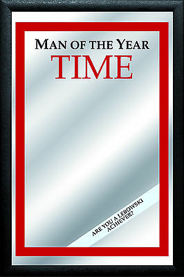 Man of the Year TIME Nostalgia Bar Mirror Mirror Bar Mirror 8 11/16x12 5/8in