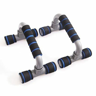 Push Press Up Bar Stand Gym Fitness Exercise Strength Training Bodybuilding Blue