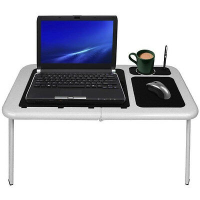 Laptop Lap Desk Foldable Table E-Table Bed With USB Cooling Fans Stand
