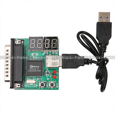 Powerful 4-Digit PC Analyzer Diagnostic Motherboard Tester USB Post Test Card UK