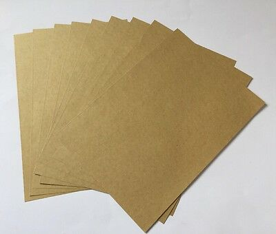 SELF ADHESIVE KRAFT PAPER-10xA4 SHEETS-BROWN STICKERS-BLANK/LABELS-PRINT-STICKY