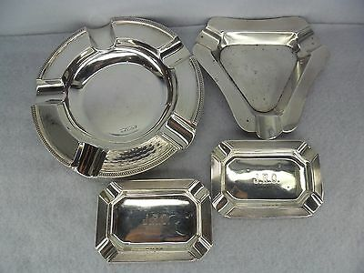 Job Lot of Solid Silver Ashtrays for Scrap or Resale inc Walker & Hall