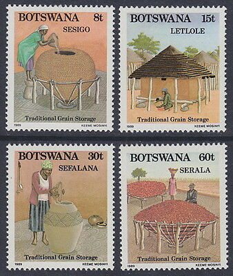 BOTSWANA - 1989 Traditional Grain Storage (4v) - UM / MNH