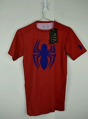 REDUCED! Under armour spiderman compression shirt heatgear like-skins small $70