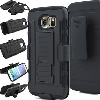 Galaxy S8 Plus S7 Shock Proof Heavy Duty Armour Stand Case Cover With Belt Clip