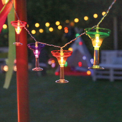 Battery Power Cocktail LED Fairy Lights with 6hr Timer | Margarita Party Martini