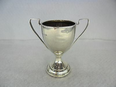 Miniature Art Deco Sterling Solid Silver Trophy, Birmingham 1930 EH