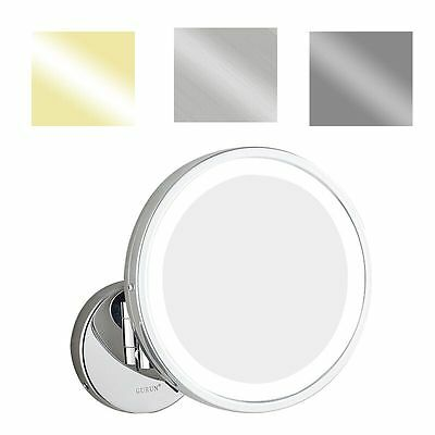 GURUN 10X Magnifying Hardwire Lighted Bathroom Makeup Mirror, Cordless 8.5 Inch