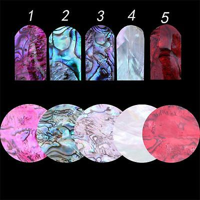 5Colors Beauty DIY Art Nail  Decal 3D Shell Sticker Manicure Decoration